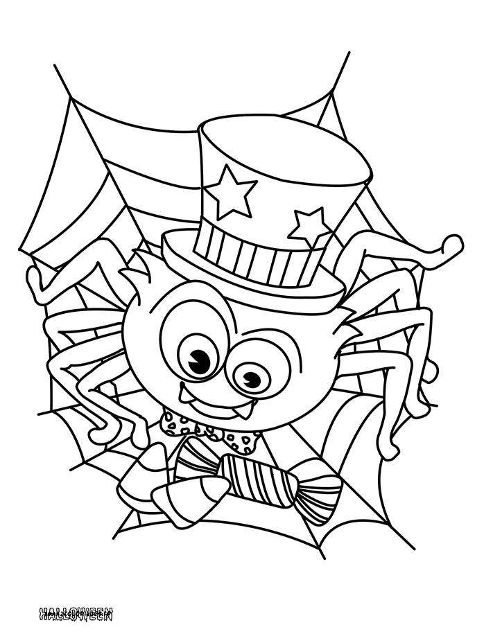 Coloriages une araign e d 39 halloween a imprimer - Coloriage a imprimer d halloween ...