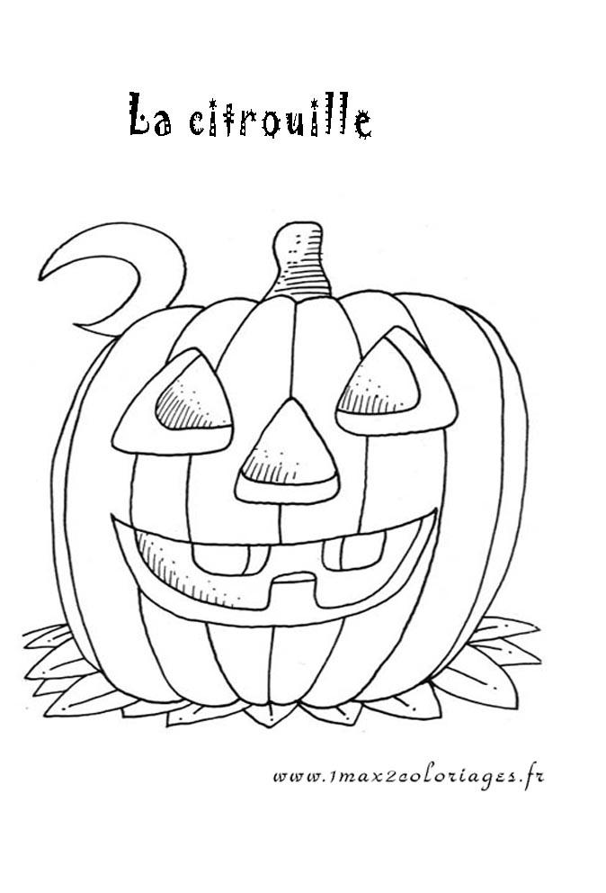 Coloriages Halloween Citrouille D Halloween A Imprimer