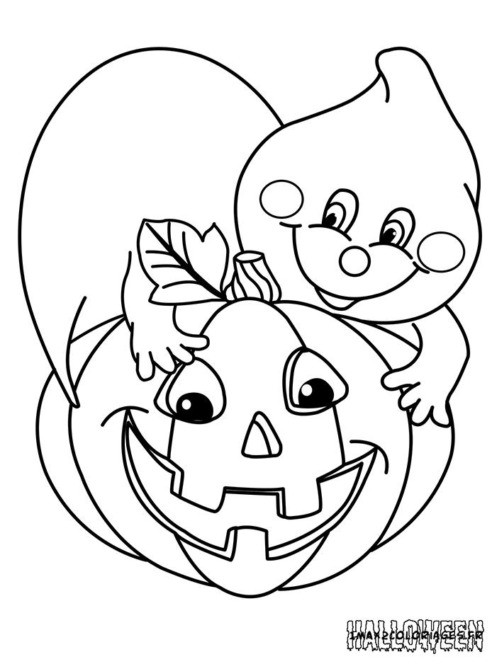 Coloriages une citrouille d 39 halloween a imprimer - Coloriage halloween fantome ...