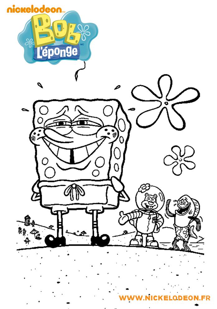 Coloriage Bob L Eponge Sandy L Ecureuil Et Bob L Eponge A Imprimer En Ligne