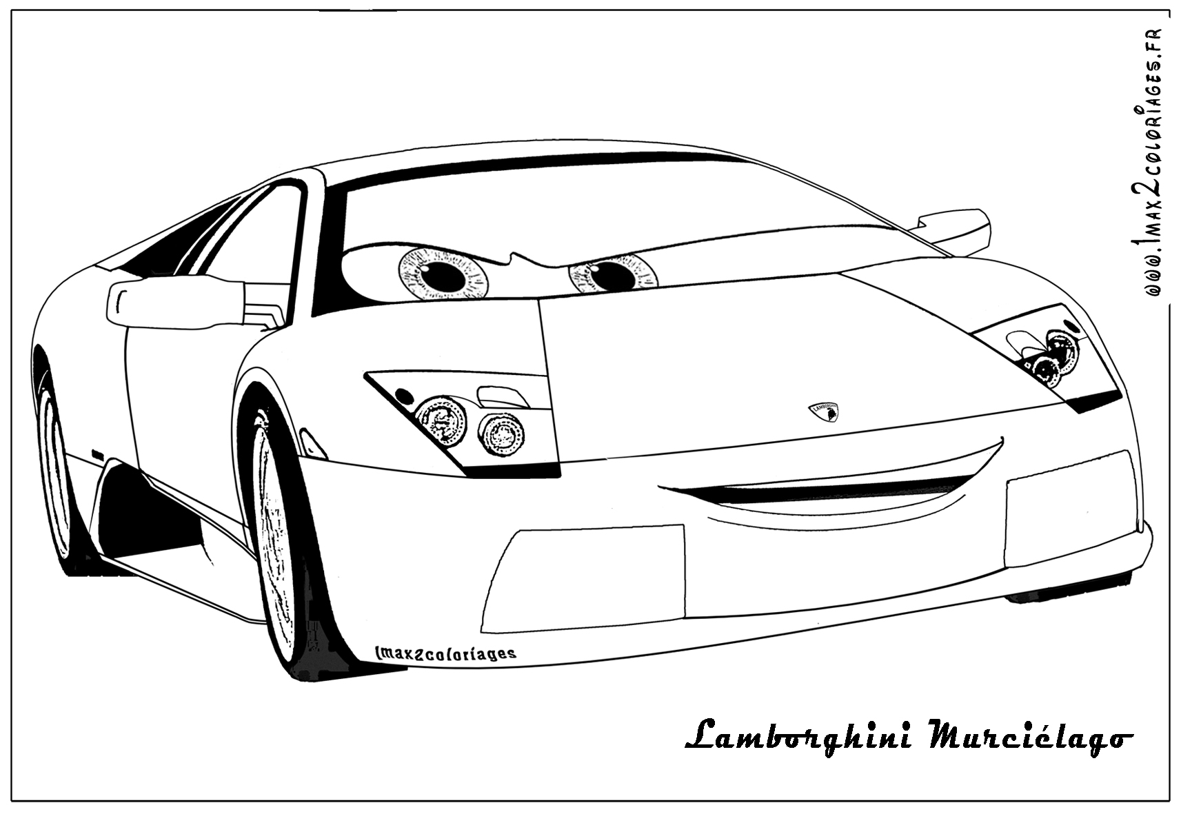 Free coloring pages of murcielago drawing pages - Lamborghini dessin ...