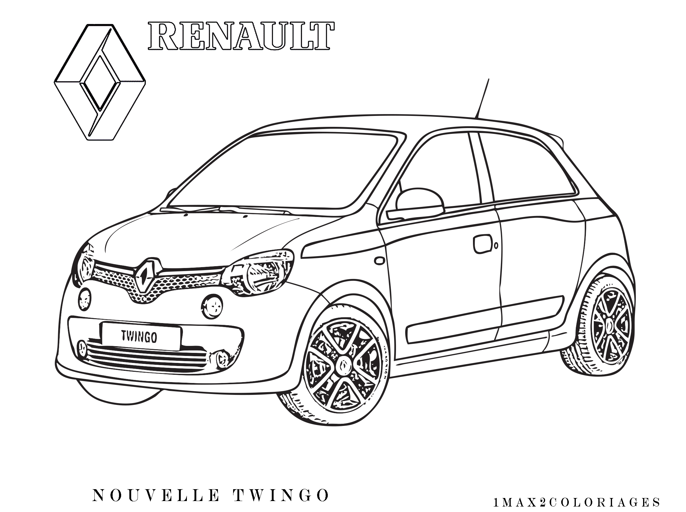Coloriage Renault My Blog