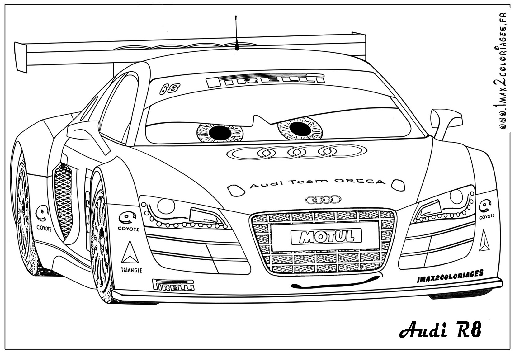 Free audi r 8 coloring pages for Audi r8 coloring pages