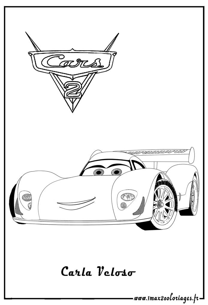 Coloriages cars 2 carla veloso cars 2 coloriages les - Cars 2 coloriage ...
