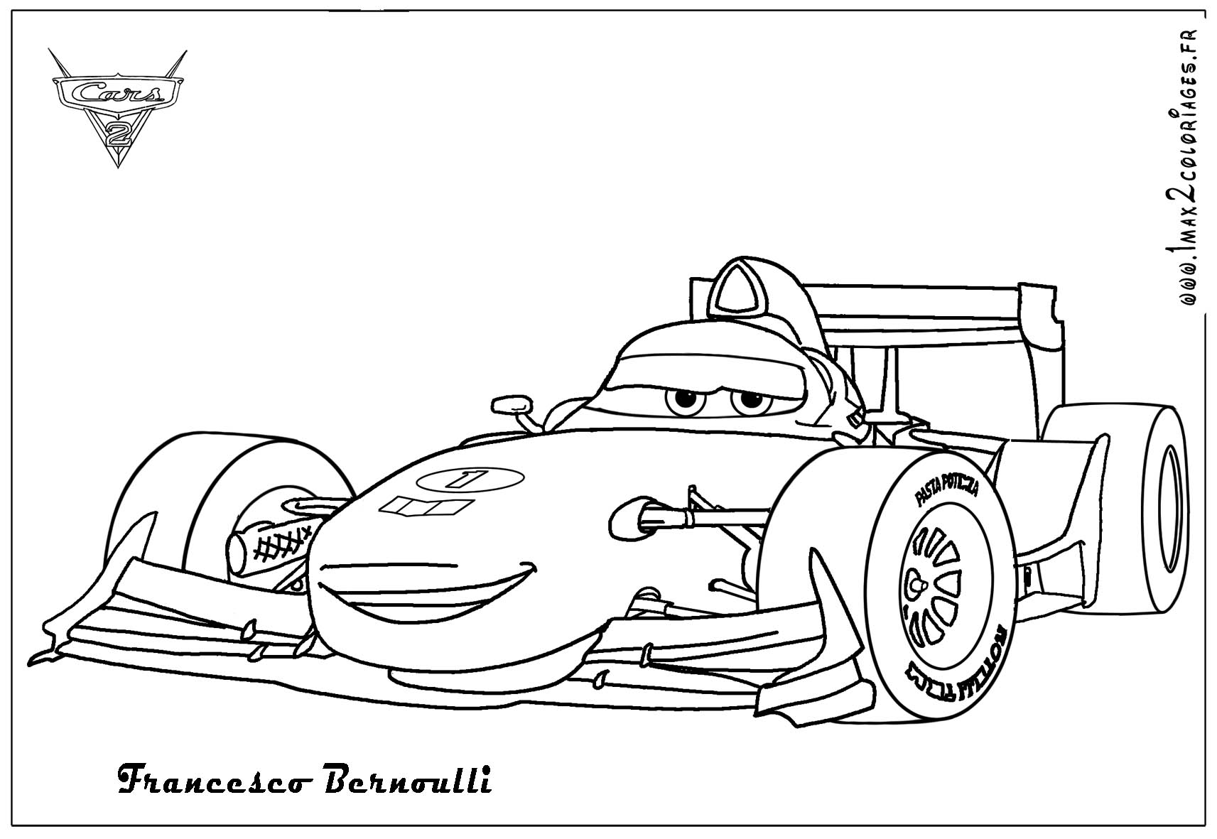 Coloriages cars 2 - Francesco Bernouli Cars 2 - Coloriages ...