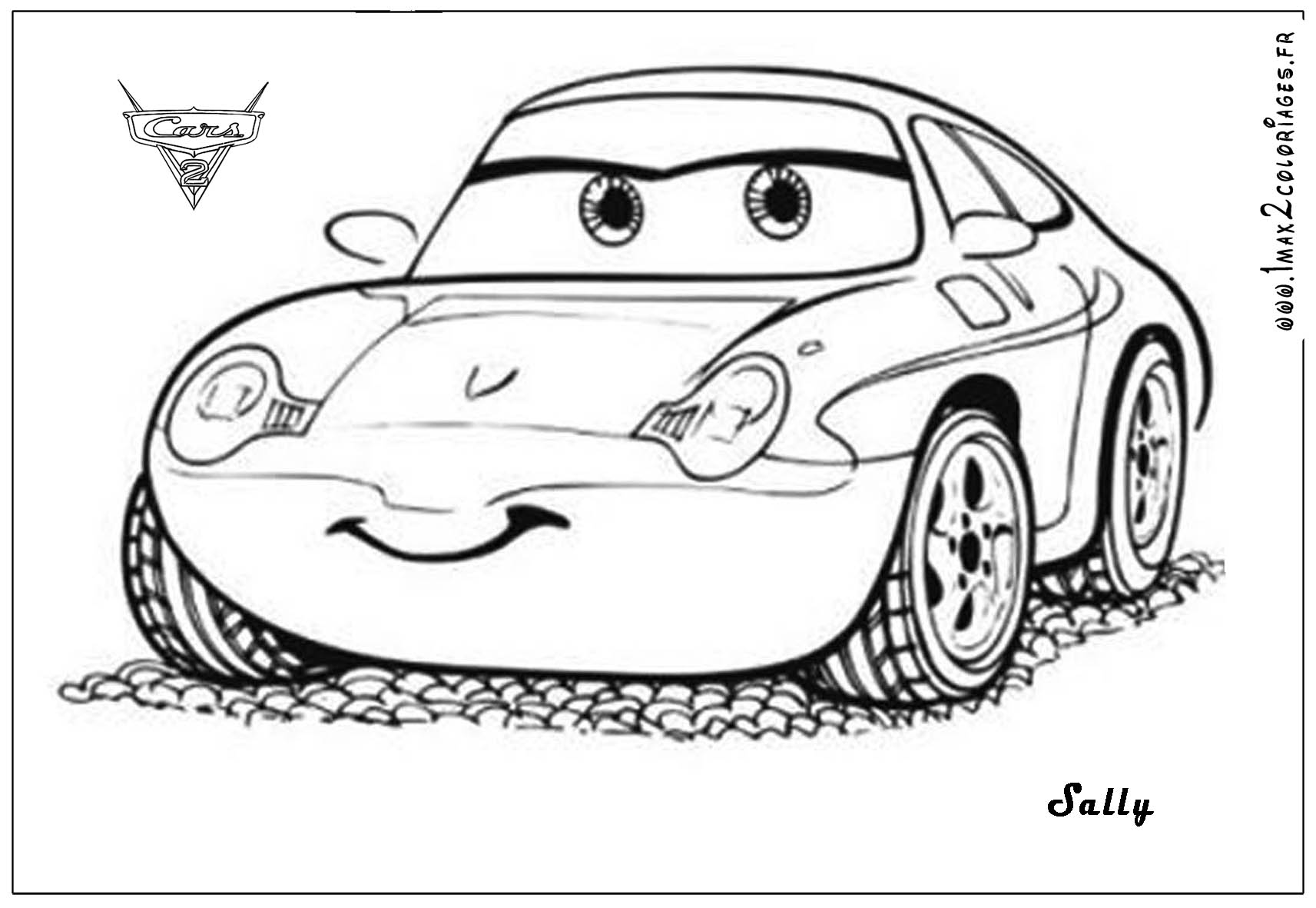 Coloriages cars 2 sally cars 2 coloriages les bagnoles 2 - Cars 2 coloriage ...