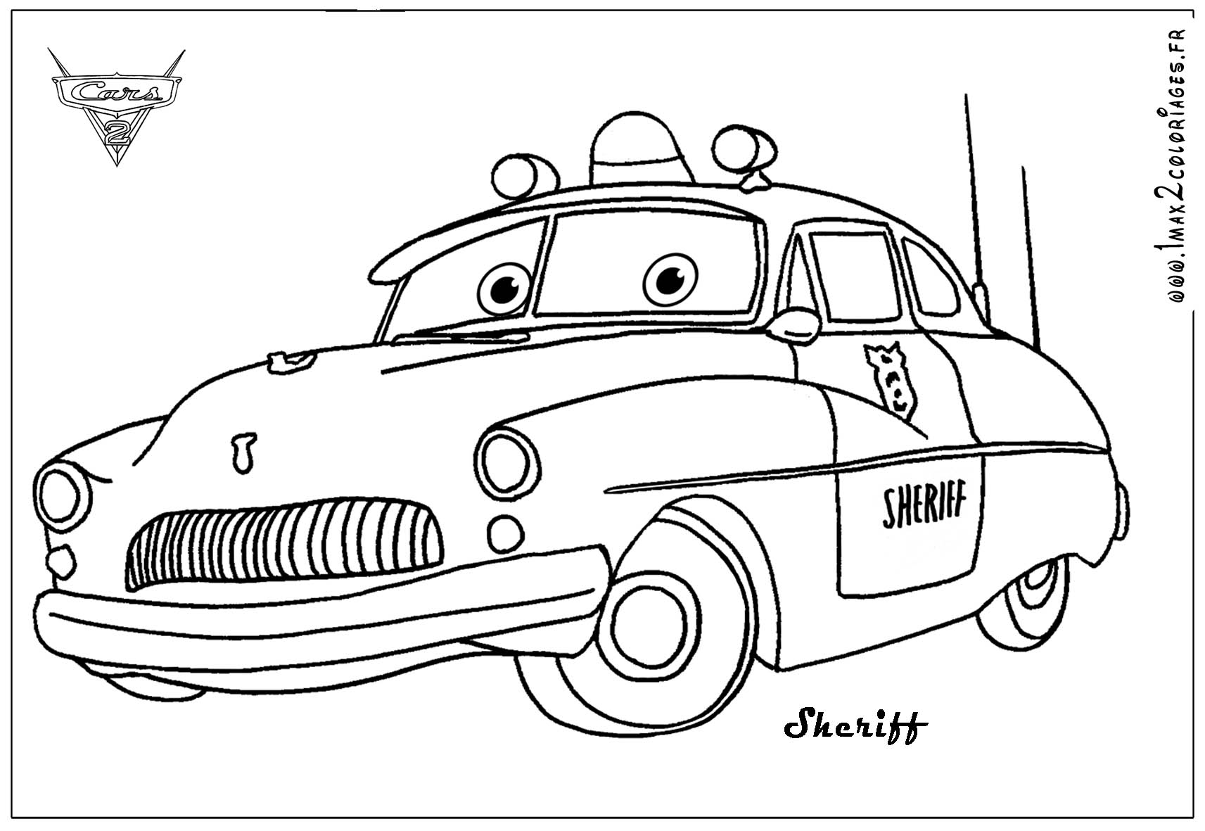Disney pixar cars2 free colouring pages - Coloriage dysney ...