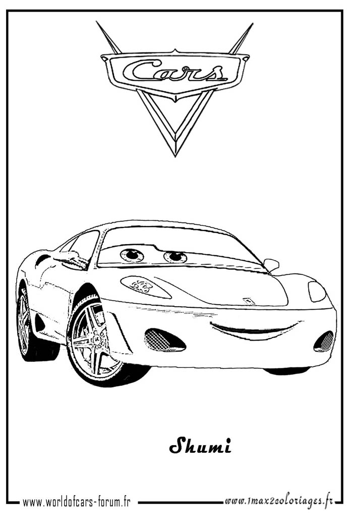 Cars coloriage - Coloriage martin cars ...
