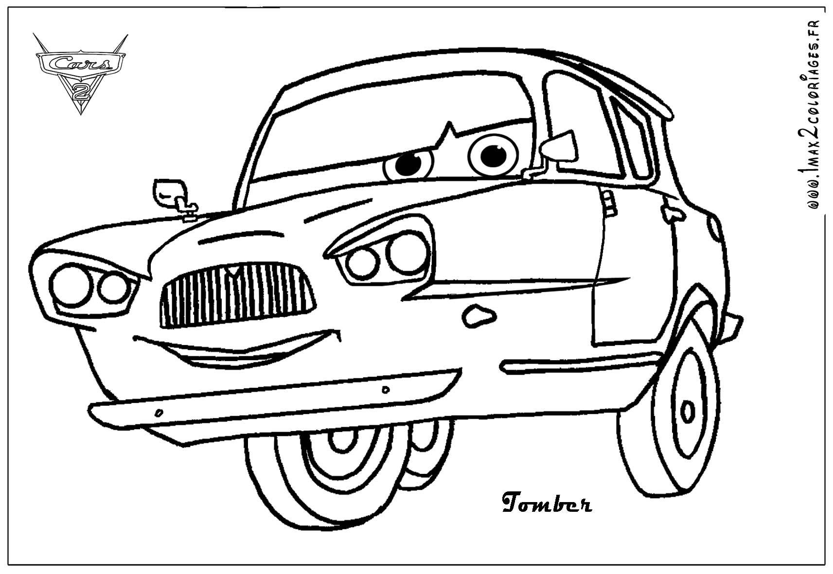 Coloriages cars 2 tomber cars 2 coloriages les bagnoles 2 - Cars 2 coloriage ...