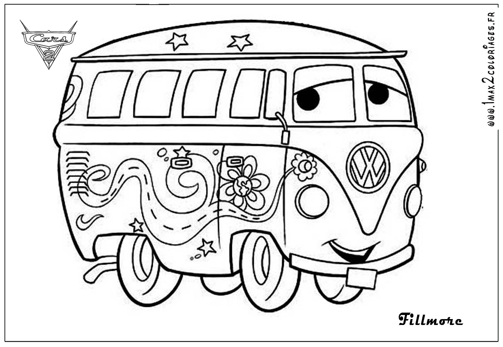 Cars 2 Characters Coloring Pages