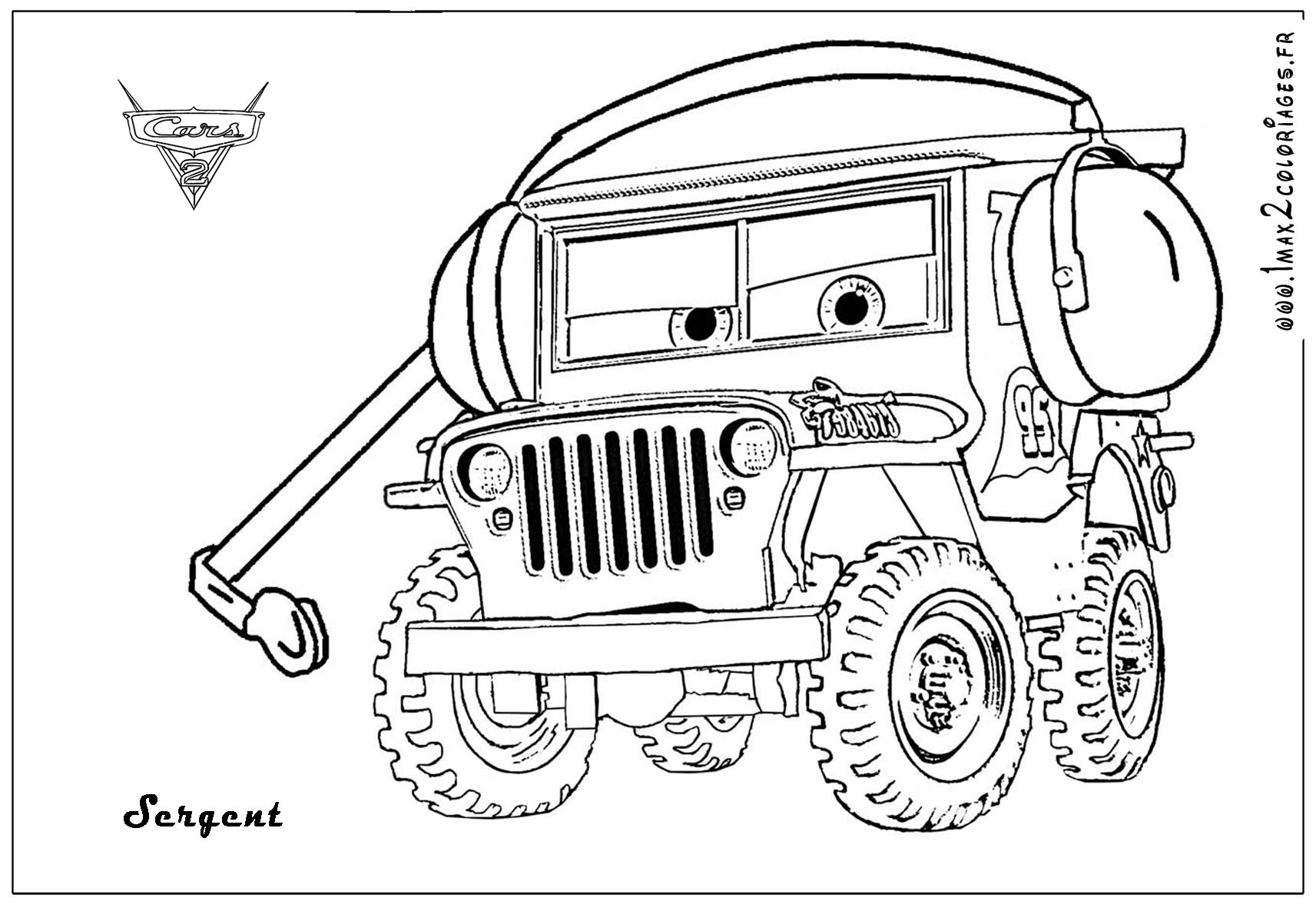 Lifted Jeep Wrangler Coloring Page