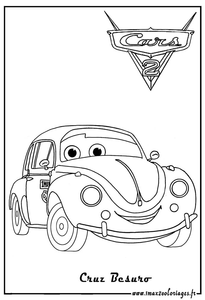 Coloriages cars 2 cruz besouro cars 2 coloriages les - Cars 2 coloriage ...