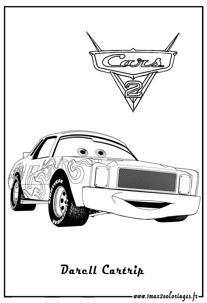 Coloriages cars 2 - Darrell Cartrip Cars 2 - Coloriages les Bagnoles 2