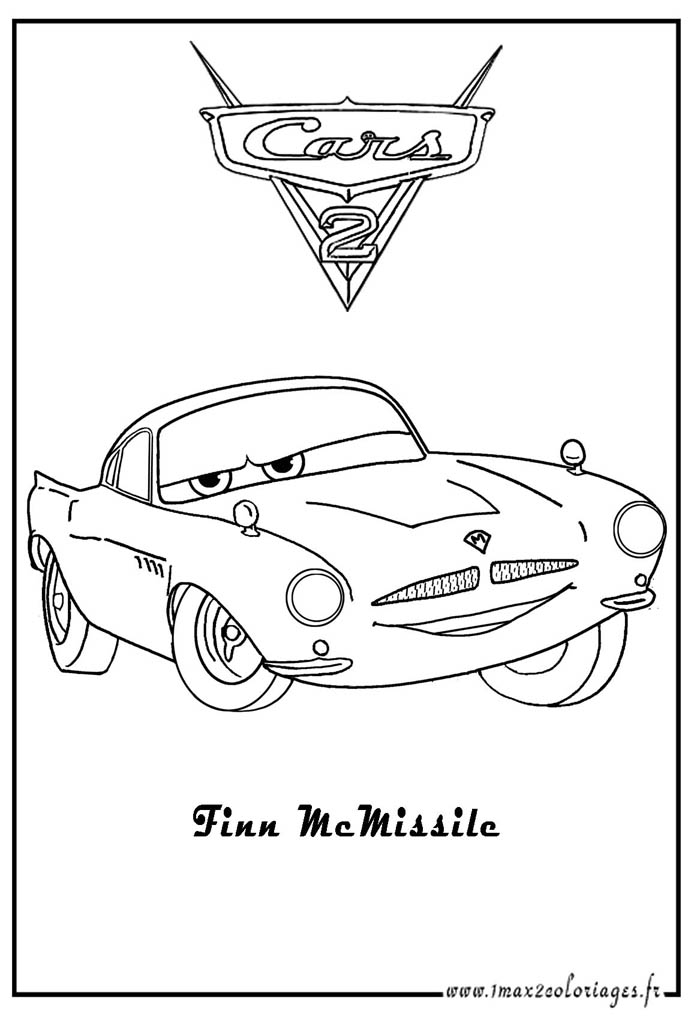Cars 2 Finn Mcmissile Coloring Pages | Bed Mattress Sale Finn Mcmissile Coloring Pages
