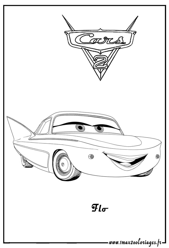 Coloriage Cars Flo.Coloriages Cars 2 Flo Cars2 Coloriages Les Bagnoles 2