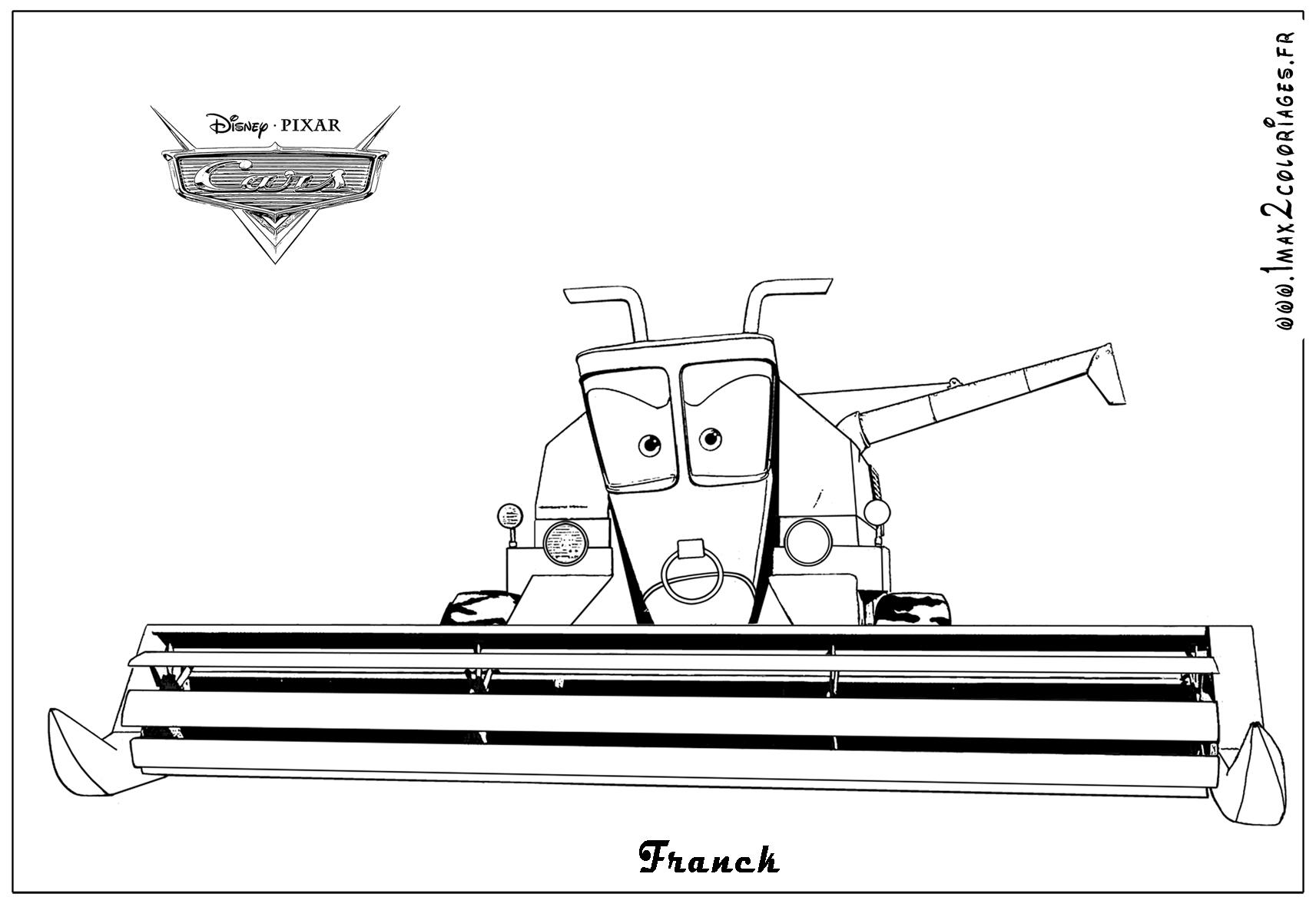 Coloriages cars 2 - Franck cars2 - Coloriages les Bagnoles 2