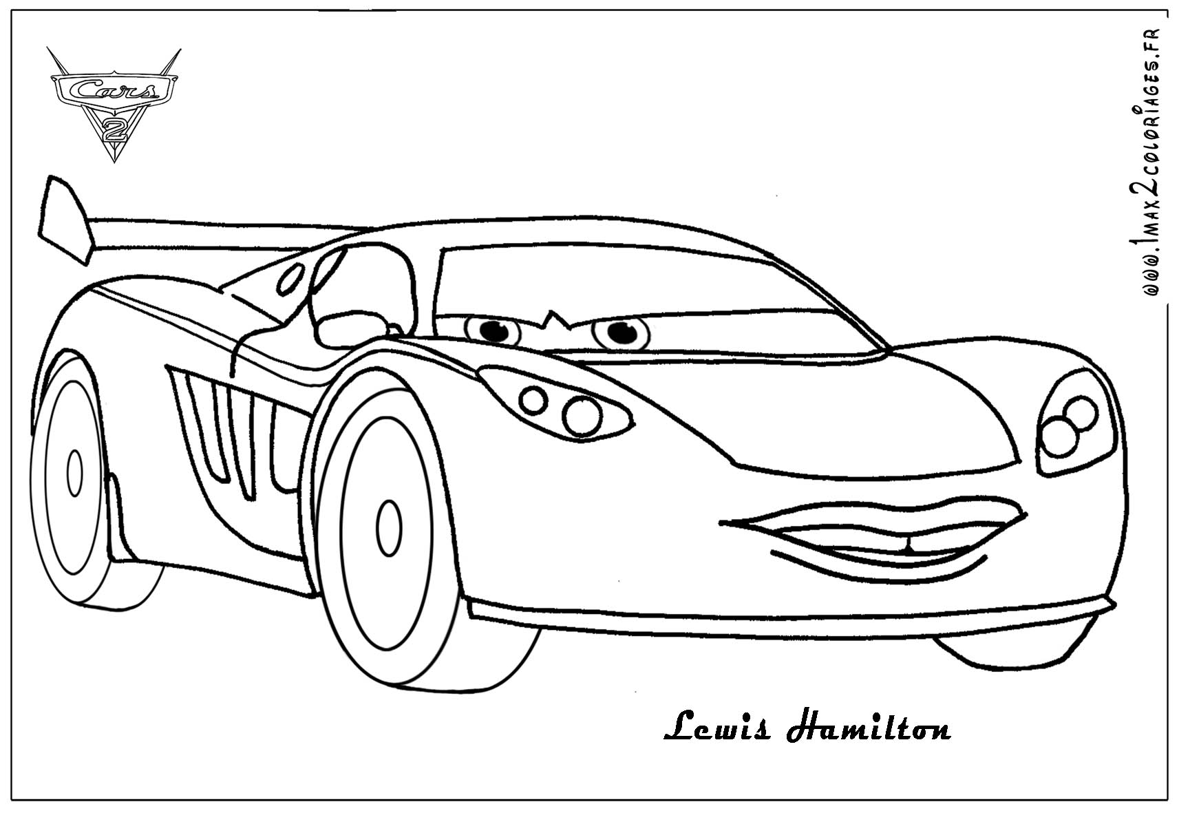 coloring pages of cars 2 - photo#4