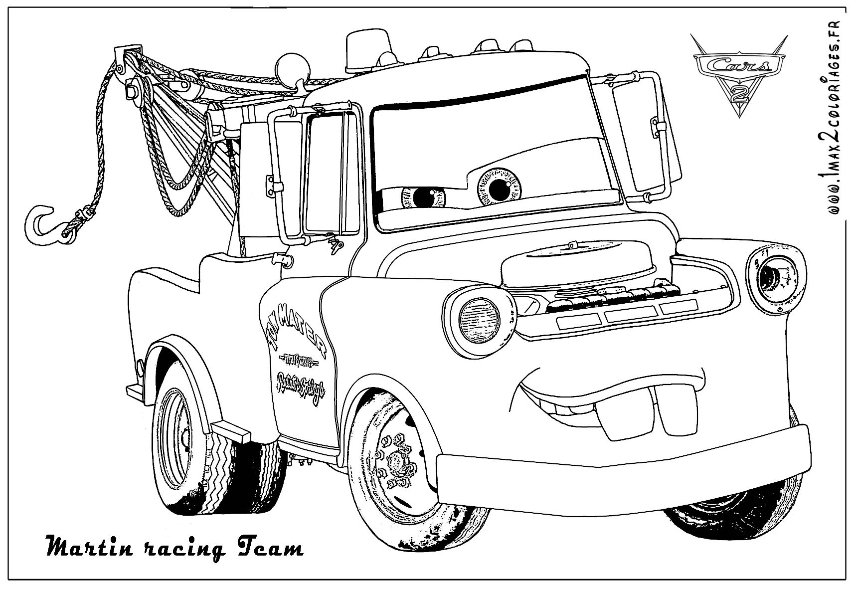 Coloriages cars 2 martin racing team coloriages les - Coloriage martin cars ...