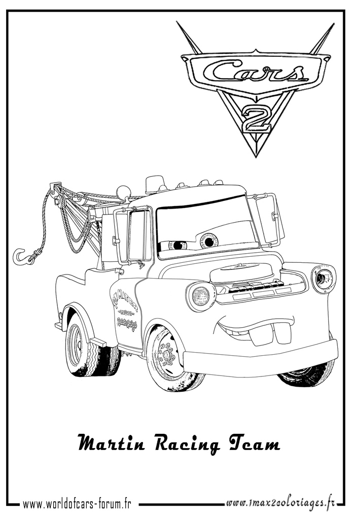Cars 2 Rip Coloring Pages