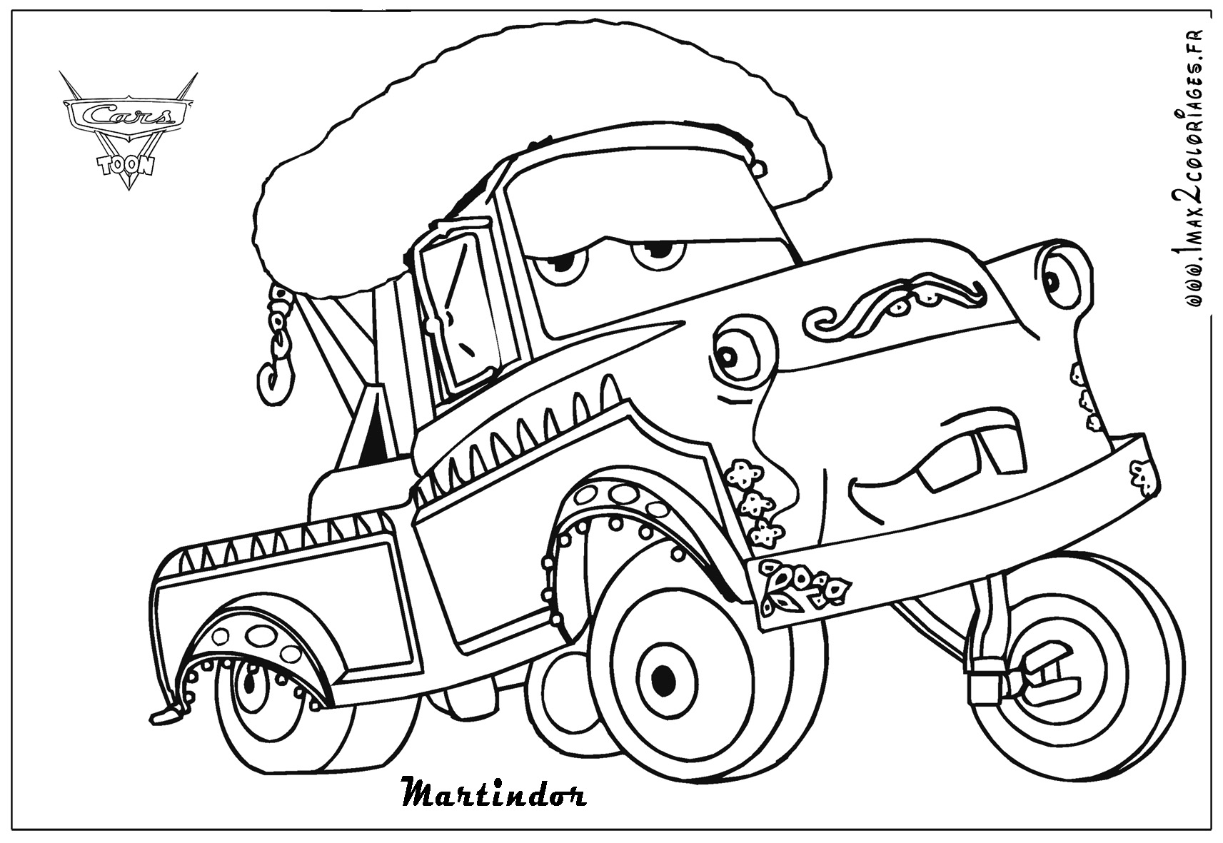 Go Cars 2 Coloring Pages
