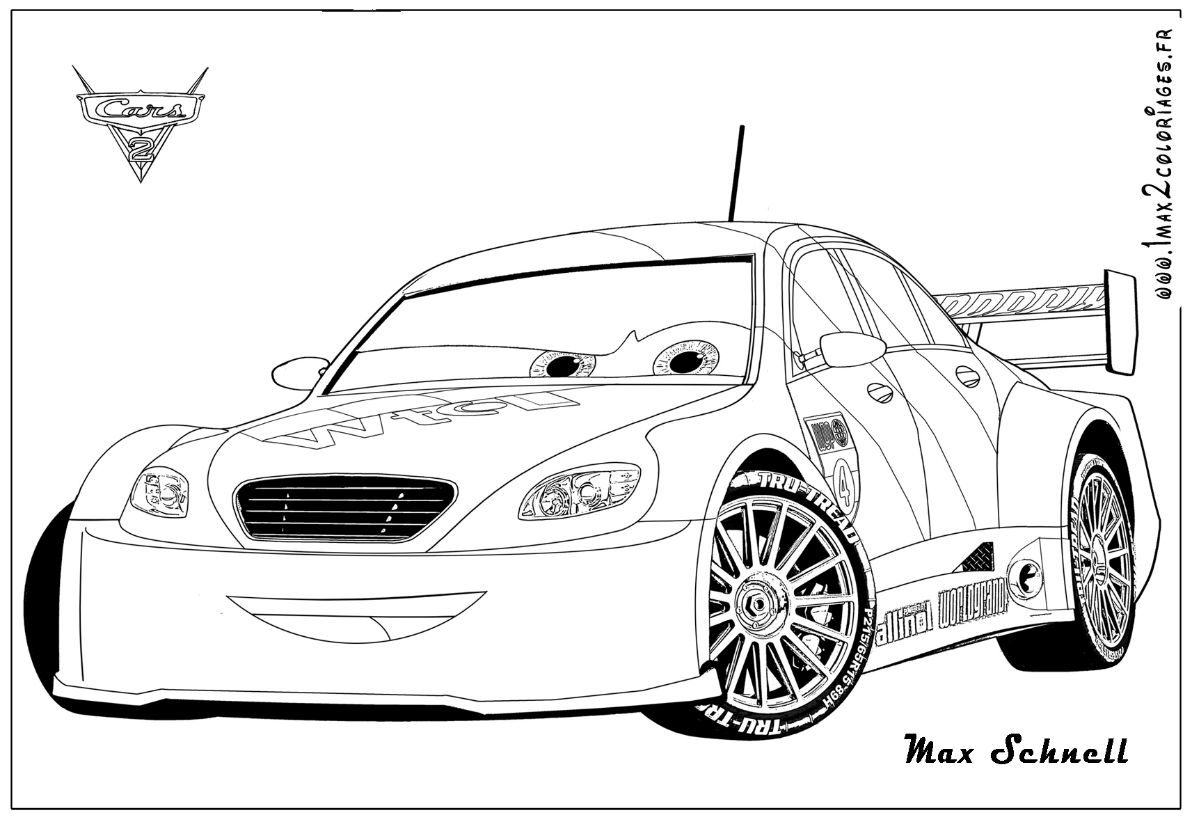 Kerwhizz coloring pages ~ cars 2 max schnell colouring pages