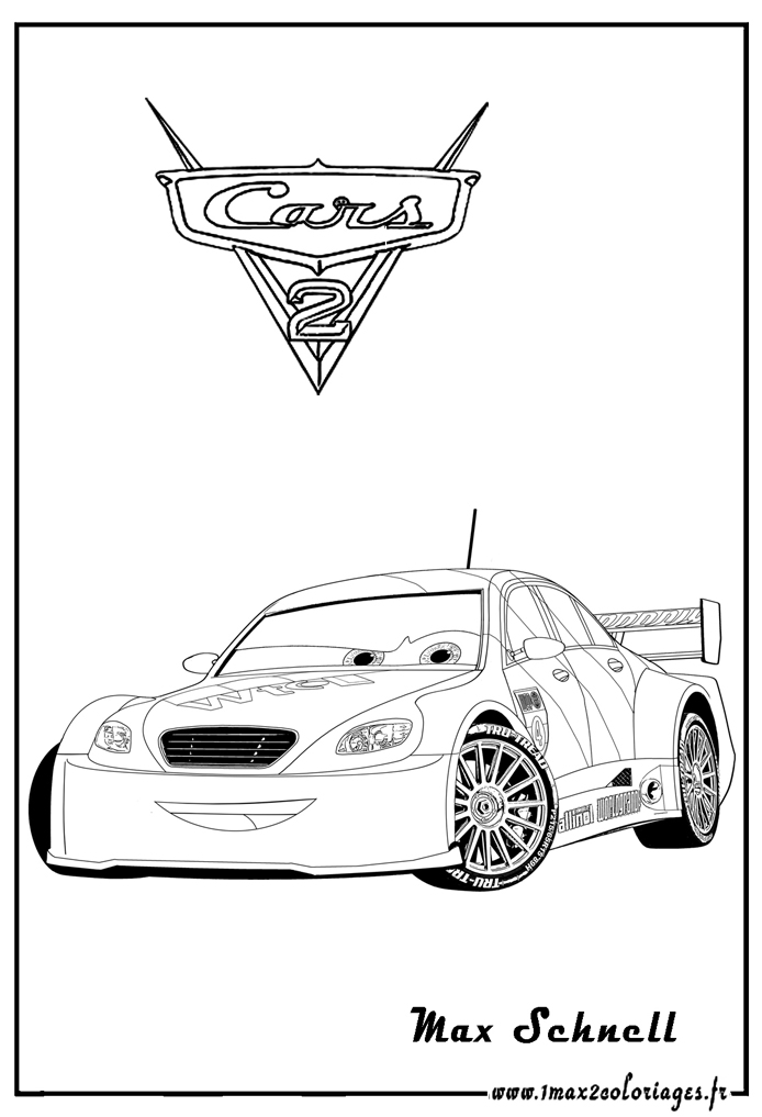Coloriages cars 2 max schnell cars2 coloriages les - Coloriages de cars ...