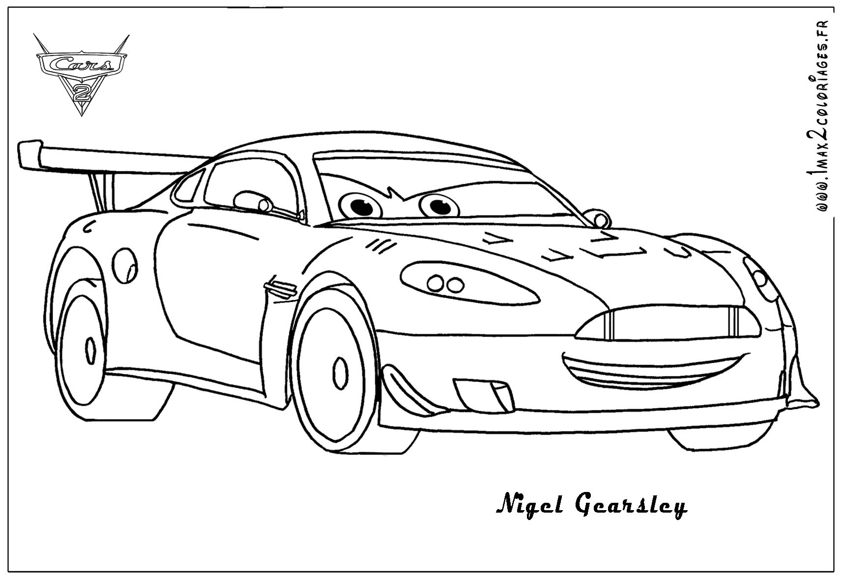 10   Cars 2 Coloriage Nigel