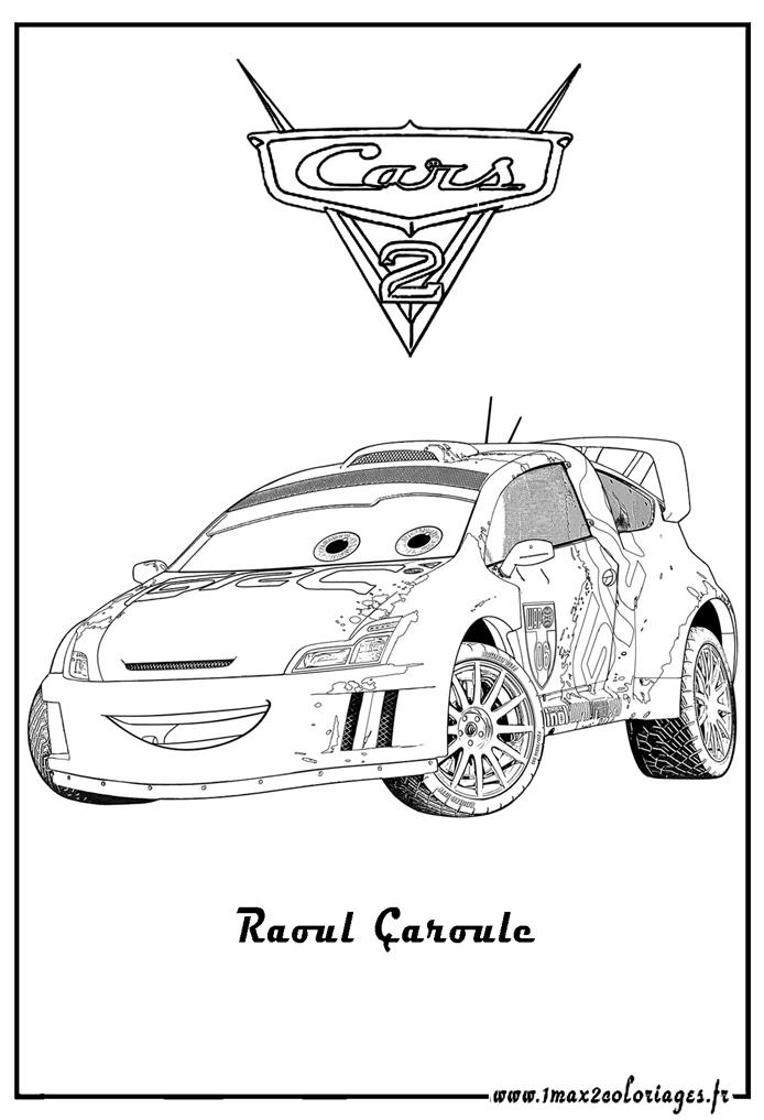 Coloriages cars 2 raoul aroule cars 2 coloriages les - Dessin cars 2 ...