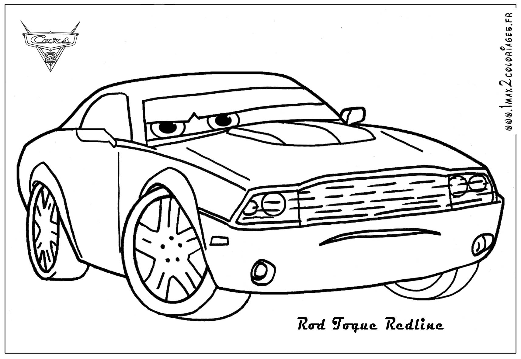 redline coloring pages | Coloriages cars 2 - Rod Torque Redline Cars 2 - Coloriages ...