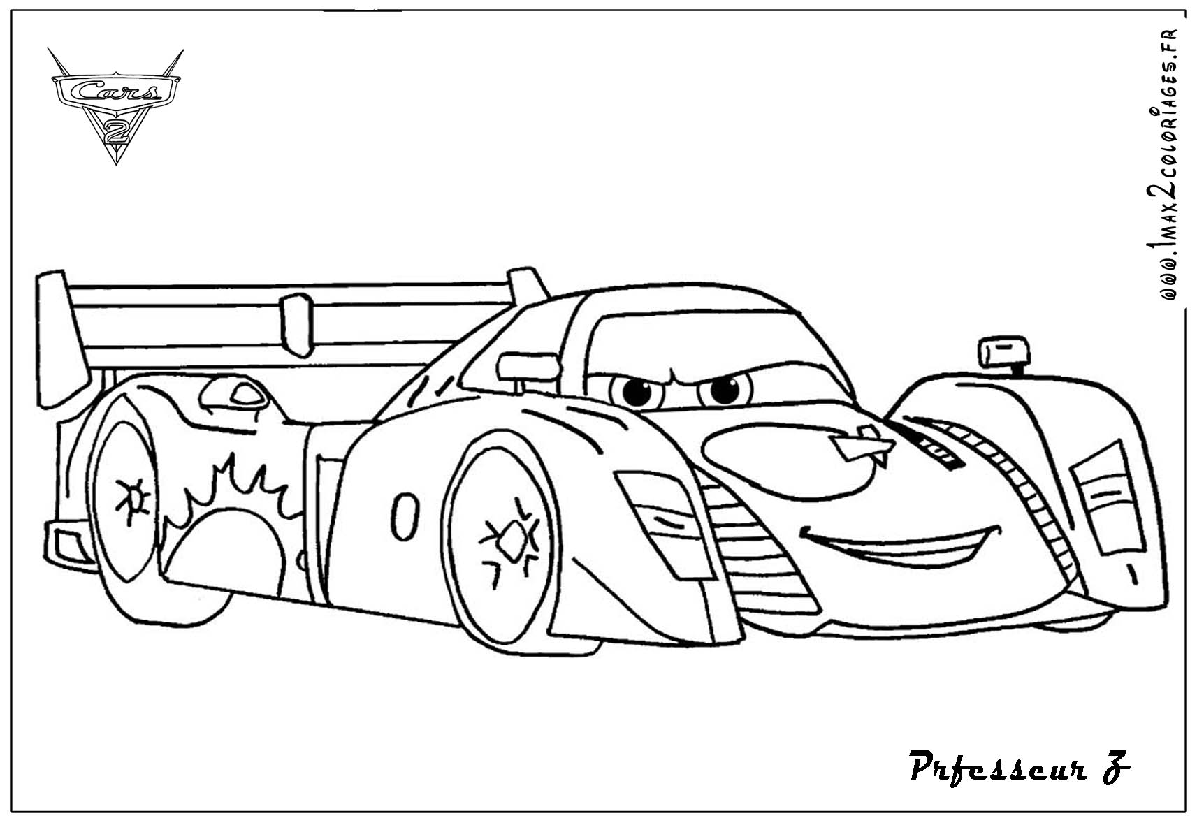 Jeff Cars Coloring Pages