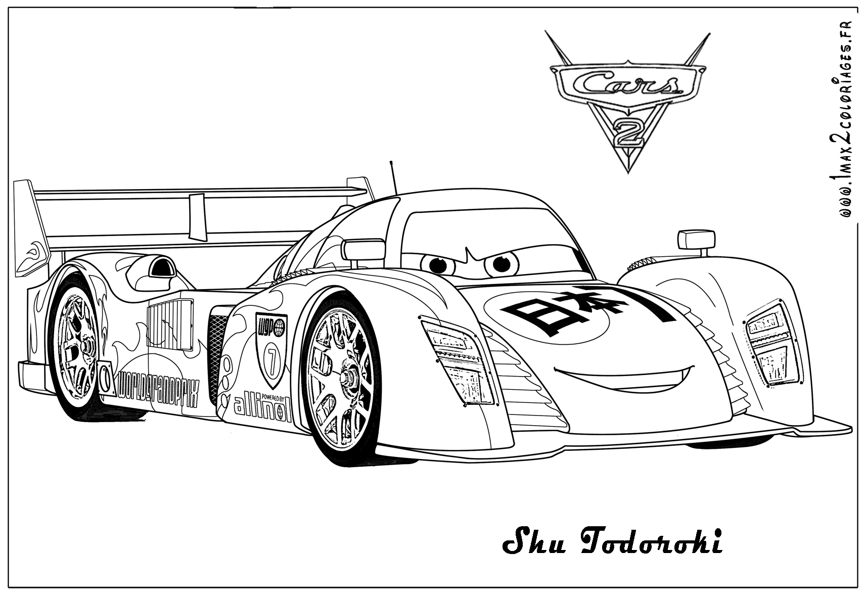 coloring pages of cars 2 - photo#33