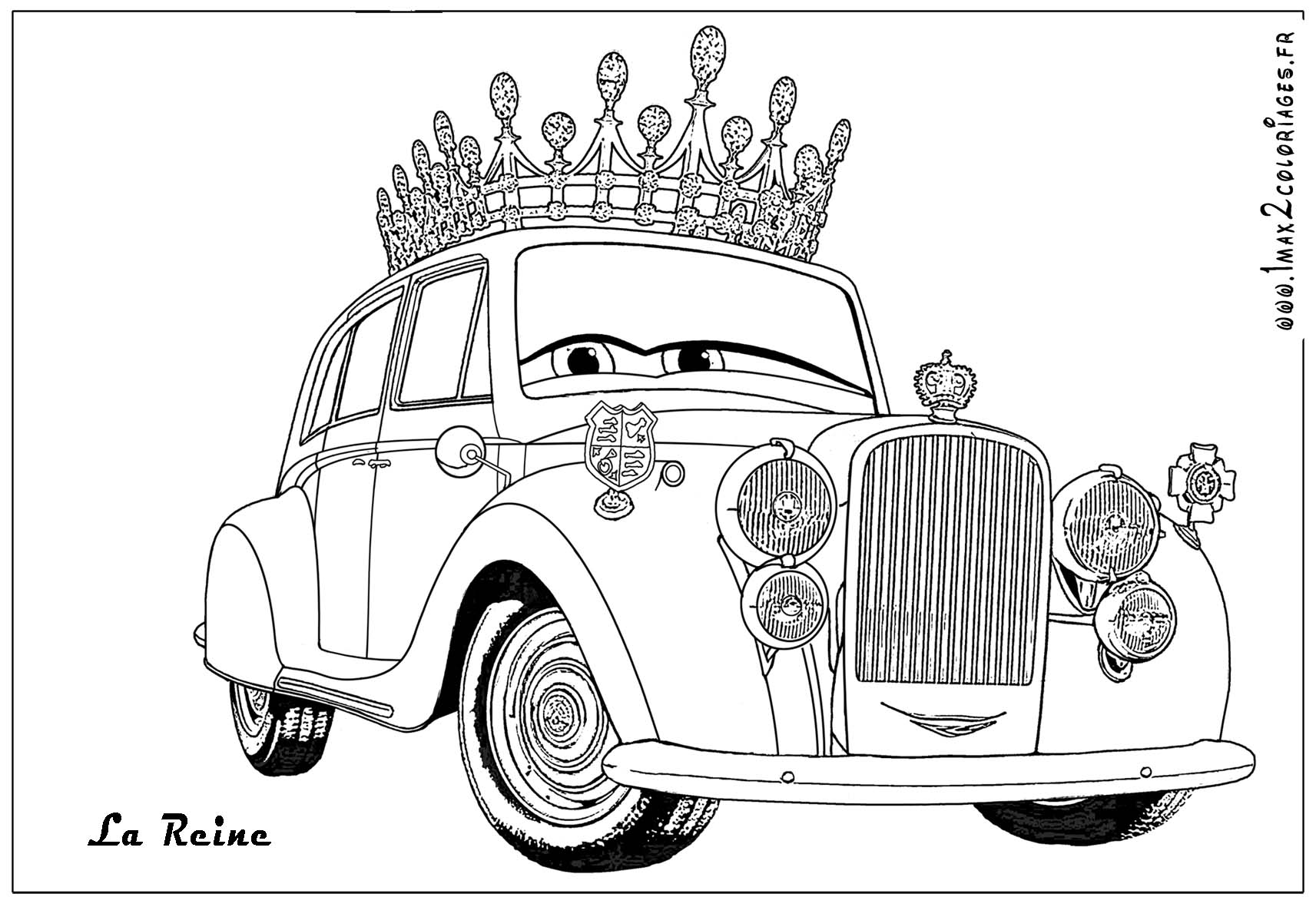 Coloriages cars 2 coloriages les bagnoles 2 - Car coloriage ...