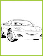 Coloring page cars 2 - Coloriage cars 2 miguel camino ...