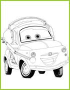 sally luigi cars 2 coloriage