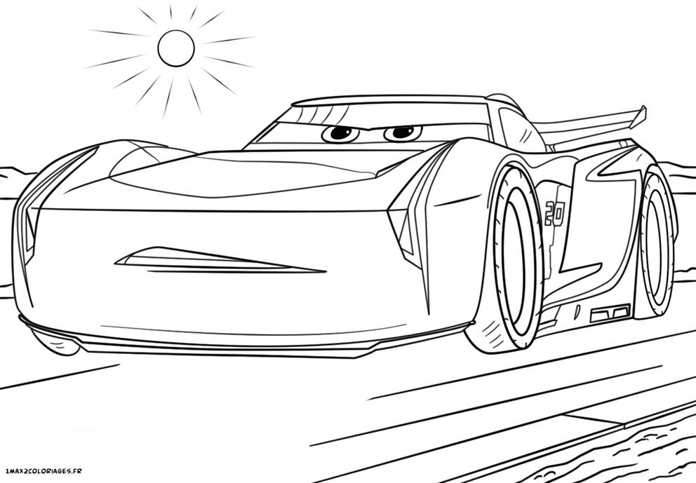 Coloriage cars 3 jackson storm - Dessin de car ...
