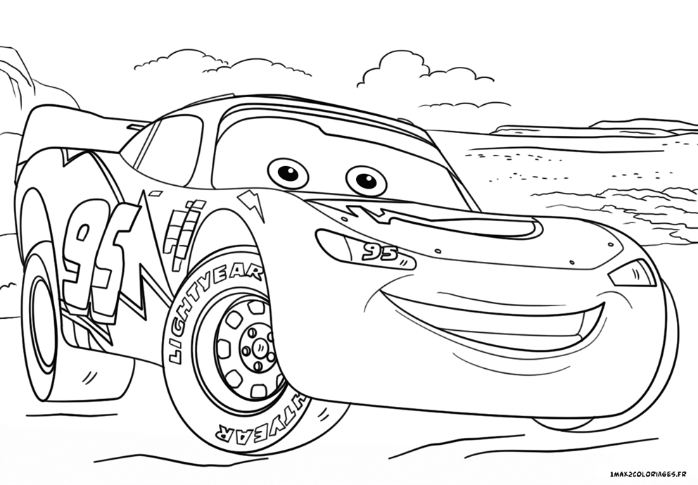 Coloriage Cars.Coloriage Cars 3 Flash Mac Queen