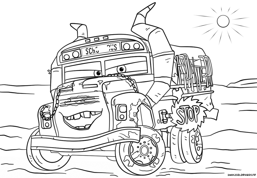 Coloriage cars 3 miss fritter - Coloriage cars 3 thunder hollow ...