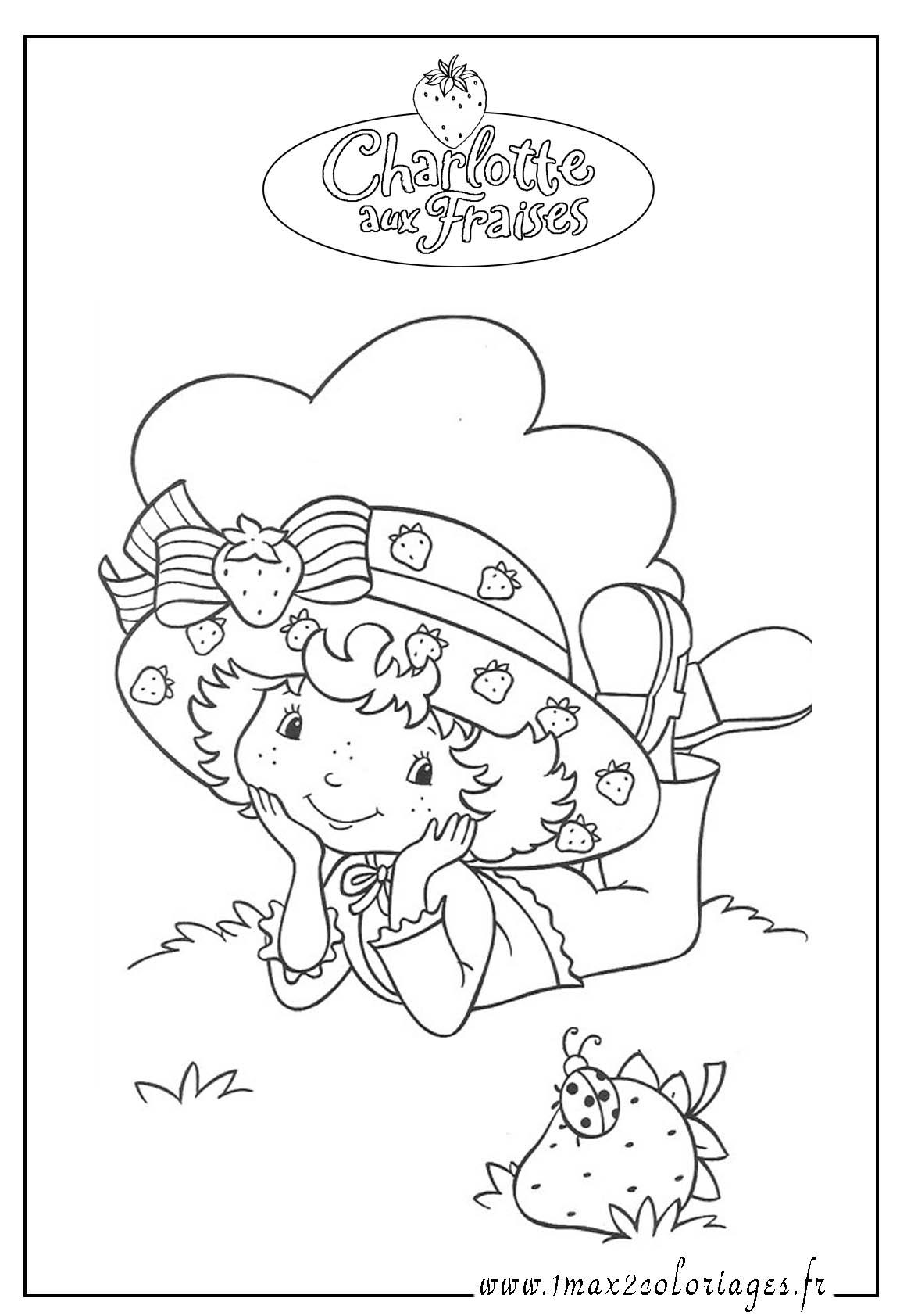 charlotte aux fraises coloriage charlotte aux fraises gratuit a