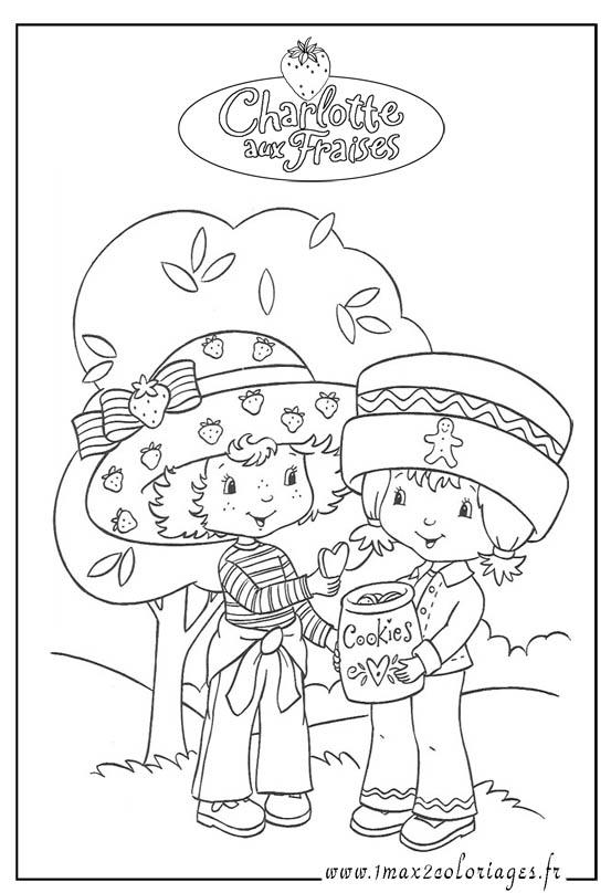 Charlotte aux fraises coloriage charlotte aux fraises - Charlotte aux fraises dessin ...