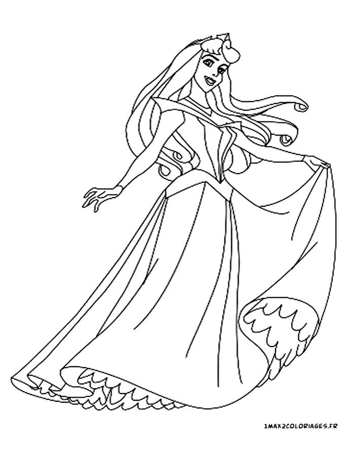 Coloriages de la belle au bois dormant de walt disney princesse aurore - La belle au bois dormant coloriage ...