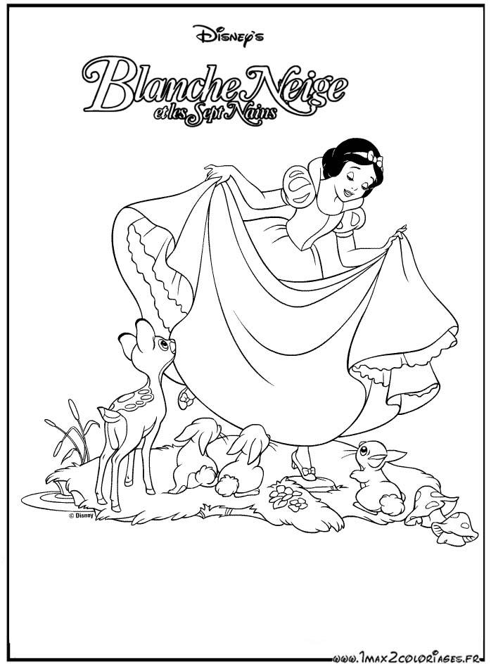 Coloriages Du Film D Animation De Walt Disney Blanche