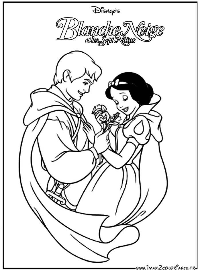 Coloriages Du Film D Animation De Walt Disney Blanche Neige