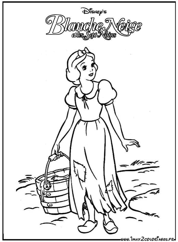 Coloriages du film d'animation de walt Disney : Blanche