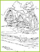 Coloriages blanche neige et les sept nains for Maison des sept nains