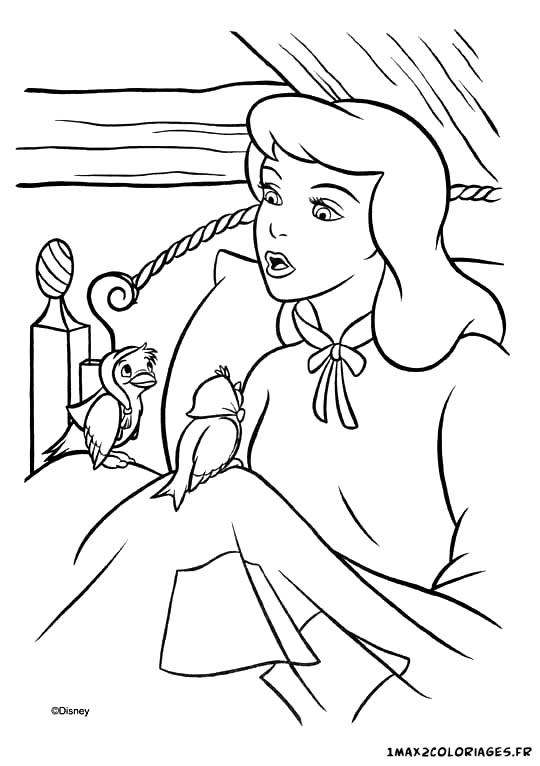 Coloriages De Cendrillon De Walt Disney A Imprimer Gratuitement