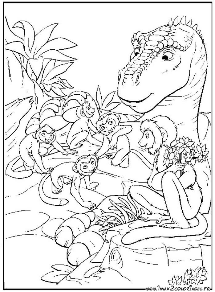 Coloriages du film d 39 animation de walt disney dinosaure - Dinosaure a dessiner ...