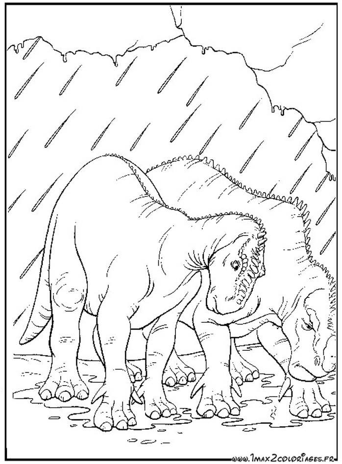 disney dinosaur coloring pages | Disney Dinosaur Aladar And Neera Sketch Coloring Page