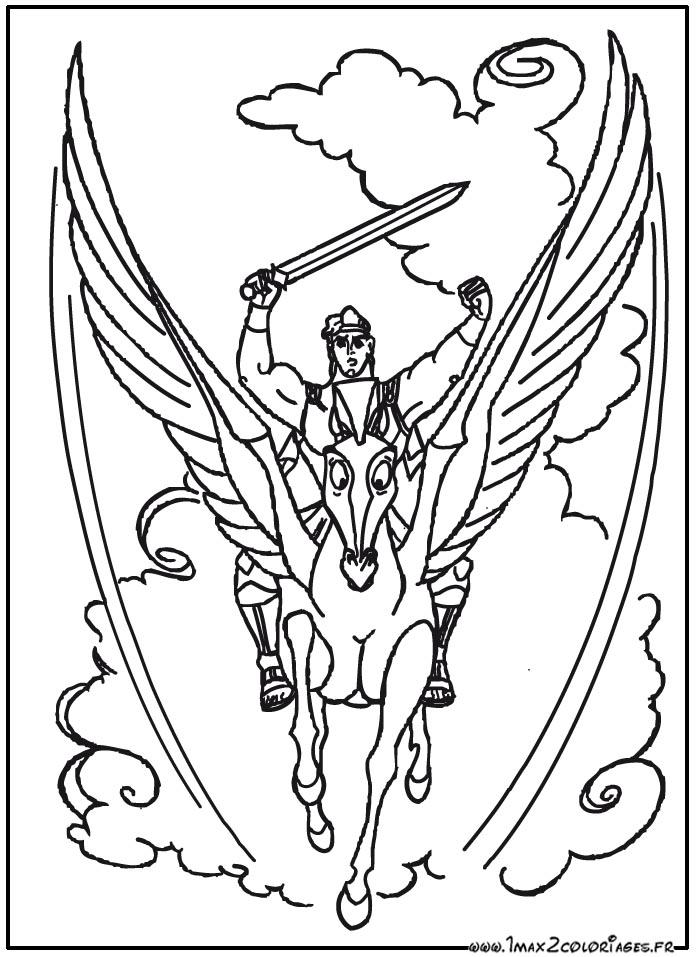 Coloriage hercule de walt disney hercule sur son cheval a imprimer - Coloriage de walt disney ...