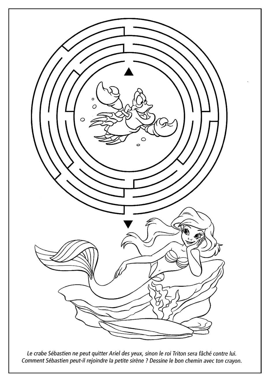 Jeux de dessin avec les princesses walt disney - Coloriage princesse ariel ...