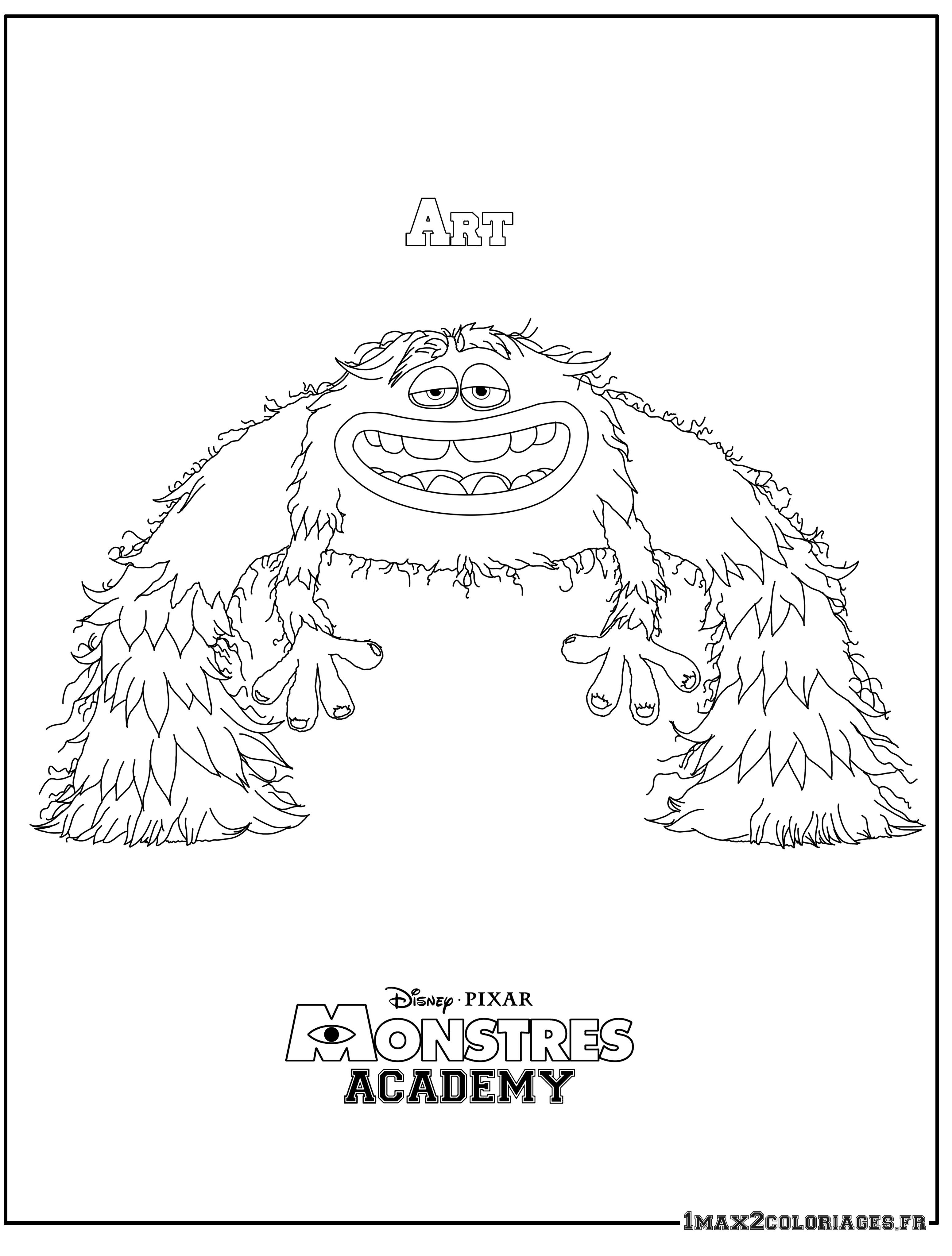 Coloriage Monstres Academy Art Un Monstre Atypique A Imprimer En Ligne